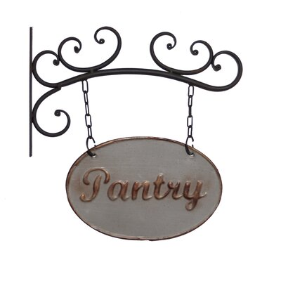 Metal Pantry Sign Wall Decor