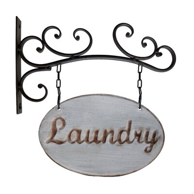 Metal Laundry Sign Wall Decor