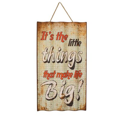 Metal Sign 'Little Things' Wall Decor
