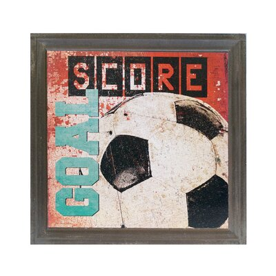 Wood Soccer Sign Graphic Art MT1847