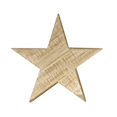Wood Star Wall Decor Size: Medium