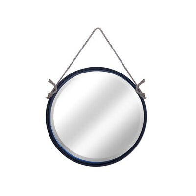 Metal Round Rope Hanging Mirror Size: 25 H x 24 W x 2 D