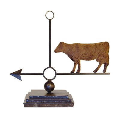Metal Weather Vane Decor Cow Figurine