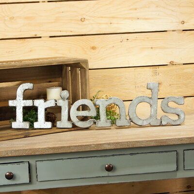 'Friends' Metal Words Wall Décor