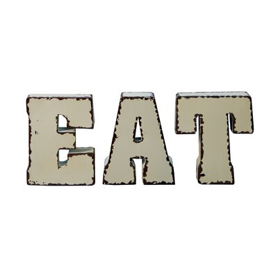 Metal Eat Letter Block Wall Decor