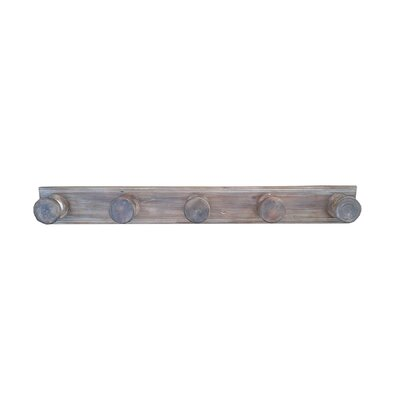 Wood Spool Hooks Wall Mounted Coat Rack