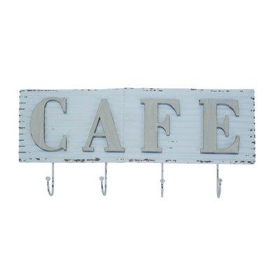 Metal Cafe Sign Wall Mounted Coat Rack American Mercantile