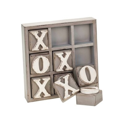 Wood Tic Tac Toe Letter Block