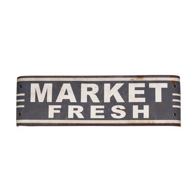 'Market Fresh' Metal Sign Wall Décor