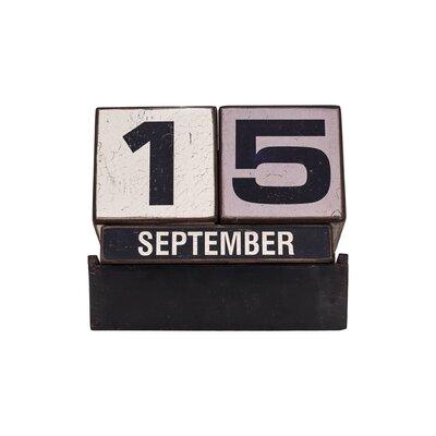 American Mercantile Decorative Wood Perpetual Calendar