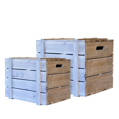 Faded Charm 2 Piece Crate Set