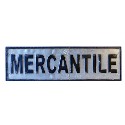MERCANTILE Sign Wall Décor