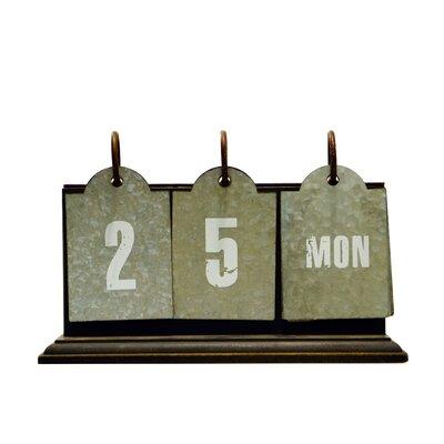 Wood and Metal Perpetual Calendar Letter Block