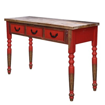 Wood 2 Tone Console Table