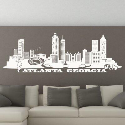 Atlanta Skyline Wall Decal Color: White