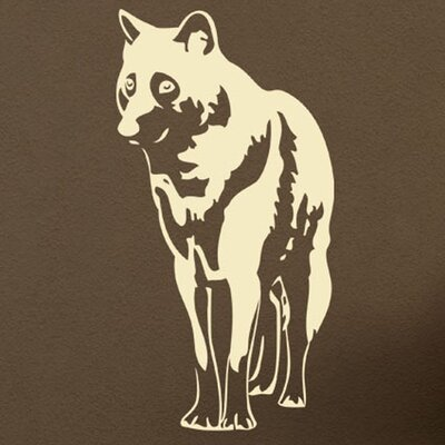 Wolf Wall Decal Size: 31