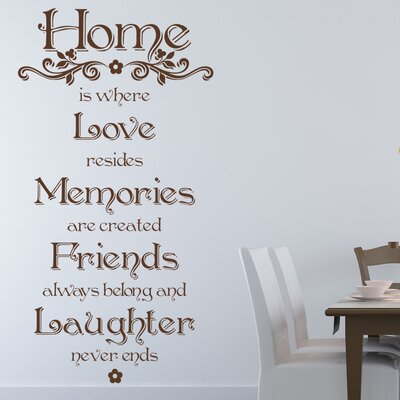 Home Quote Wall Decal Size: 79