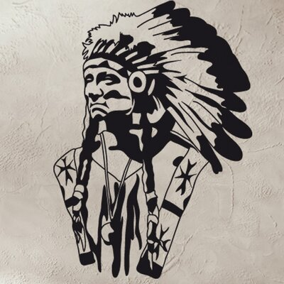 American Indian Wall Decal Size: 66