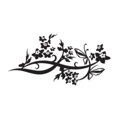 Wing Vine Wall Decal Size: 16