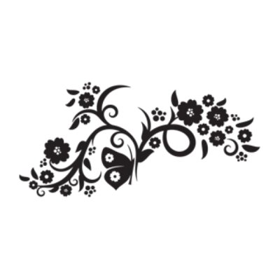 Flower Flow Wall Decal Size: 13