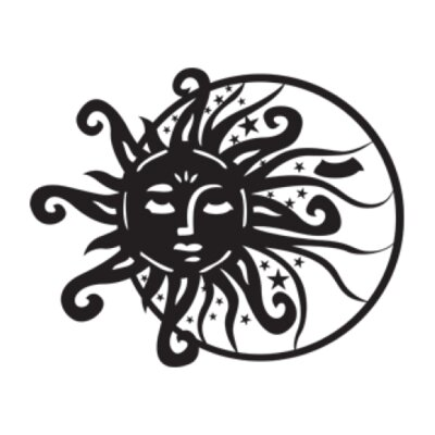 Sun and Moon Wall Decal Size: 25