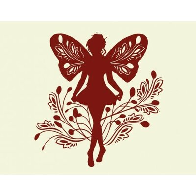 Fairy Wall Decal Color: Yellow, Size: 24