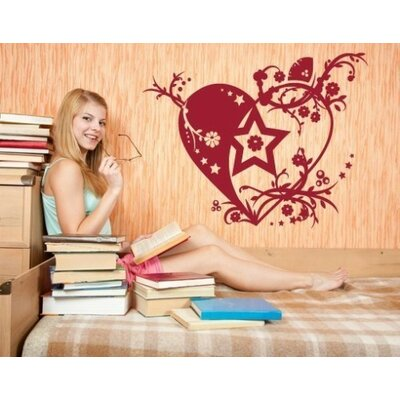 Tendril Heart Wall Decal Size: 59