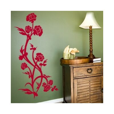 Rose Bush Wall Decal Size: 44