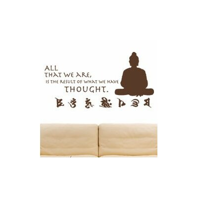 Buddha Quote Wall Decal Size: 20