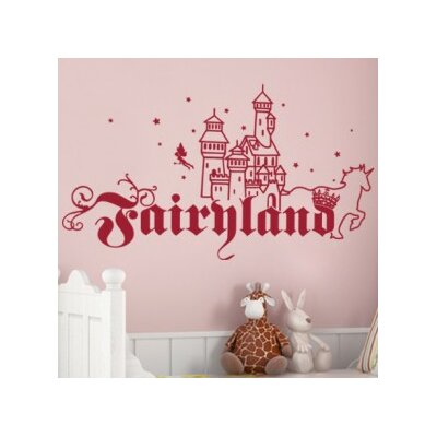 Fairyland Wall Decal Color: Beige, Size: 21