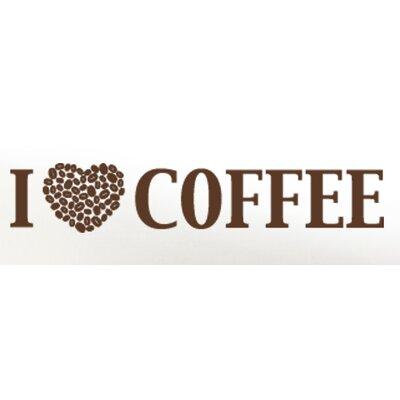 I Love Coffee Wall Decal Size: 17