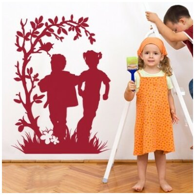 Running Kids Wall Decal Size: 65