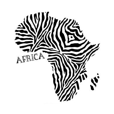 World Africa Wall Decal S-Beige-3927