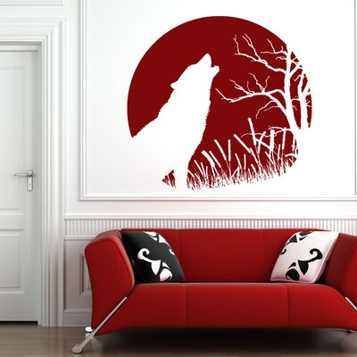 Howling Wolf Wall Decal Color: Gray 3962gray