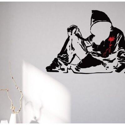 Banksy Bloody Hoodie Wall Decal BD1028 - 24in x 18in - Multi