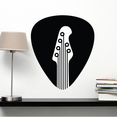 Guitar Pick Wall Decal SA3043-16in x 18in-Black