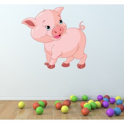 """Cute Piglet Wall Decal Size: 15"""" H x 16"""" W SD3025 - 16x15"""
