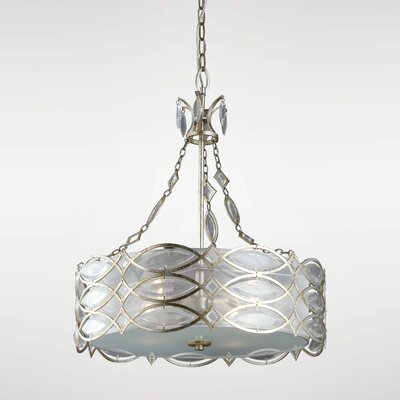 Bilgarrie 1-Light Drum Pendant
