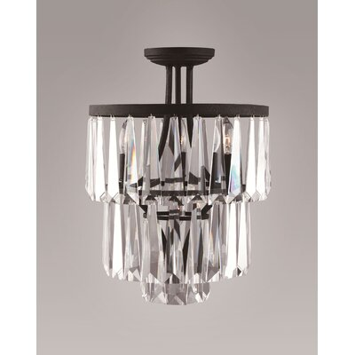 Bilertine 4-Light Semi Flush Mount Finish: Painted Bronze