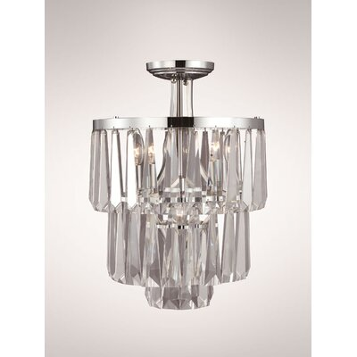 Bilertine 4-Light Semi Flush Mount Finish: Polished Nickel