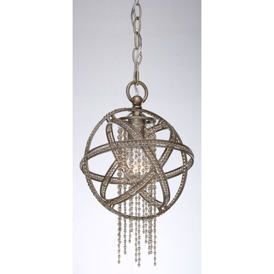 Kelson 1-Light Globe Pendant Finish: Silver Leaf Burnished