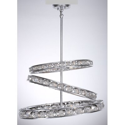 Cora 12-Light Kitchen Island Pendant Finish: Silver Leaf