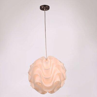Lynetta 1-Light Globe Pendant Size: 75 H x 15.75 W x 15.75 D