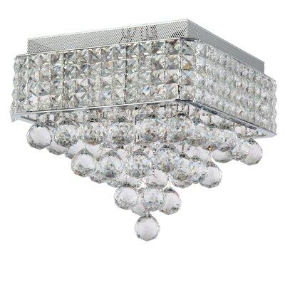 Ahlstrom 4-Light Crystal Shade Flush Mount