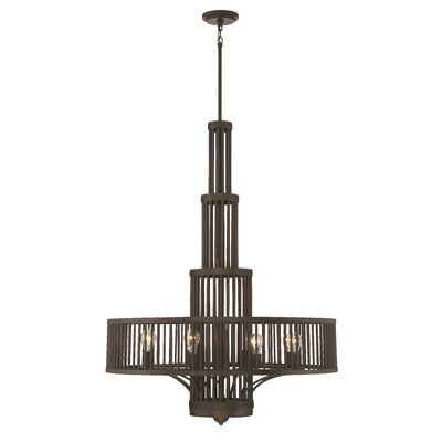 Pogson 8-Light Drum Chandelier