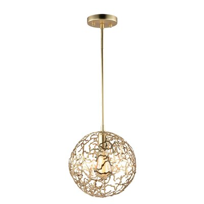 Aicha 1-Light Mini Globe Pendant