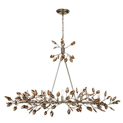 Bosley 5-Light Kitchen Island Pendant Finish: Antique Gold / Champagne