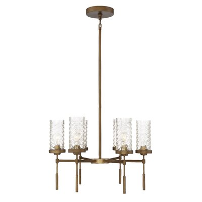 Herrod 6-Light Shaded Chandelier Finish: Antique Brass