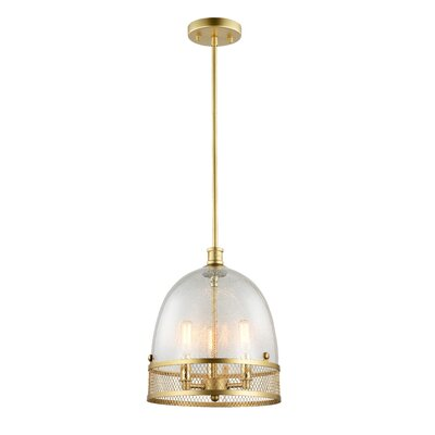 Theia 3-Light Bowl Pendant Finish: Matte Gold