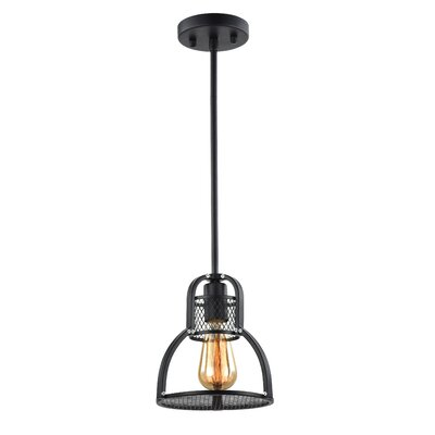 Demitri 1-Light Mini Pendant Size: 8 H x 8 W x 8 D